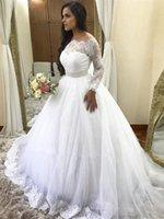 Off Shoulder Lace Wedding Dresses 2020 Elegant Long Sleeves Wedding Gowns Lace Mermaid Wedding Dresses Plus Size Bridal Dresses Chapel Train