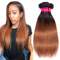 Two tone 1b 30 Peruvian Straight Hair Bundles Human Hair Ext...