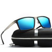 Luxus-rechteckige Sonnenbrille männlich und weiblich neutrale Sonnenbrille Retro-Brille mit polarisierten Gläsern Lentes de Sol Hombre Zonnebril