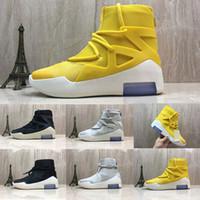 6ddc927b332 Medo de Deus 1 Running Shoes Designer de Moda Homens Tênis High-top  Sapatilhas Ocasionais
