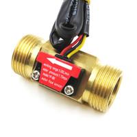 Su Yakıt Akış Ölçer Sensörü Sayacı Salonu Debimetre Havuz Şamandıra Şamatı Su Isıtıcıları için, Kredi Kartı Makinesi DN20 G3 / 4 1-30L / Min