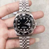 High Grade Bracciale in acciaio inox 40 Orologi Mens Automatic Watch Lunetta nera con una ceramica Top Ring mani luminose ed Dot indici