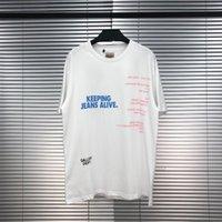 Avrupa ve Amerika Tide Marka Erkek Tasarımcı tişört Galeri Bölümü GD Tokyo Mektupları Baskılı Moda Stil ABD Sokak Tide Kısa kollu