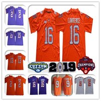 2019 Ncaa Clemson Tigers 16 Trikotfußball des Trevor Lawrence Champions College 9 Travis Etienne Jr. 4 Watson 2 Sammy Watkins Renfrow Orange