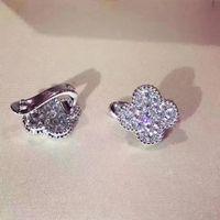 البرسيم الأذن كليب القرط مجوهرات للنساء المشاركة الزفاف الأزياء والمجوهرات عيد الميلاد حزب هدية