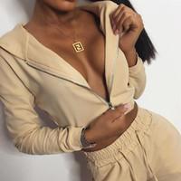 Frauen Designer-Buchstabe-Druck mit Kapuze dünnen Tracksuits Panelled sweatsuits Outfit Pullover Anzüge Hosen Langarm casual Zweiteilige 2 Bekleidung