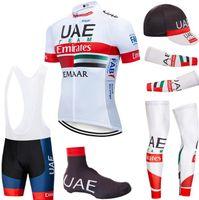 Bisiklet Jersey 2020 Pro ekip BAE Bisiklet Giyim Nefes MTB bisiklet forması armwarmer legwarmer önlük şort kiti Ropa Ciclismo set