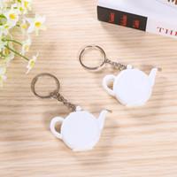 Liebe braut Teekanne Maßband Hochzeit Gefälligkeiten und Geschenk Keychain Mini tragbare Schlüsselanhänger Party Geschenk