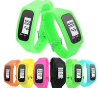 Mesafe Kalori Sayacı İzle Elektronik Bilezik Renkli Adımölçerler SN1727 Walking Dijital LCD Adımsayar Akıllı Çoklu İzle silikon çalıştırın Adım