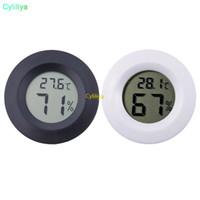 Mini-Runde LCD-Digital-Thermometer-Hygrometer Kühlschrank Gefrierschrank Tester Temperatur-Feuchtigkeits-Messinstrument-Detektor-inländisches Messwerkzeug 50pcs