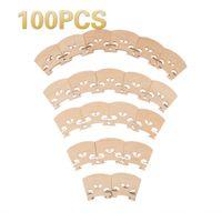NAOMI 100 PCS Violon 1/8 Pont Érable Remplacement En Bois Pour 1/8 Violon Accessoires Pièces Haute Qualité Nouvel Ensemble