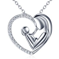 925 Sterling Silver Jewelry Mum and Child Pendant Necklaces ...