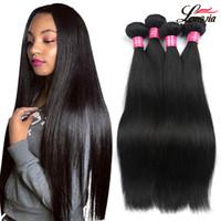 8a Malaysian Straight jungfräuliches Haar glattes Menschenhaar bündelt natürliche Farbe malaysische menschliche Haarverlängerungen, die nicht remy sind