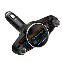 Transmissor FM Sem Fio Aux Saída No Carro Kit Mãos Livres Bluetooth Carro MP3 Player 5 V 3.1A Dual USB Suporte Para Carregador TF Cartão U-disco
