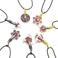 Mooie anime ketting groothandel anime cosplay sierlijke sieraden Naruto 7 verschillende ontwerpen nieuwe lederen hanger kettingen