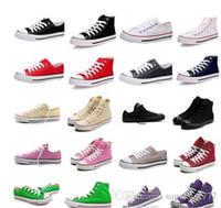HOT 2018 donne dei pattini prezzo di fabbrica femininas di tela e gli uomini alti pattini Basso Stile Classico di tela Scarpe da ginnastica Scarpe di tela