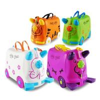 바퀴 유모차 가방 다기능 유모차 가방 가방 캔 앉아 타는 아기 트로리 상자 어린이 여행 수화물