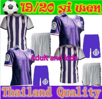 Adult and kids 19 20 Real Valladolid soccer jerseys home 201...