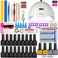 Nail Set Choose18Colors Gel Polish Base Top Coat Nail Kits 3...
