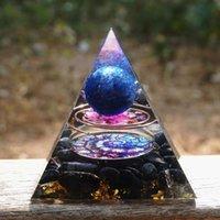 Diğer El Yapımı Lapis Lazuli Küre Obsidiyen Orgon Piramidi 60mm