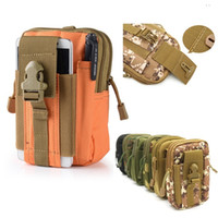 Alta Qualiyt Carteira Pouch Bolsa Phone Case Outdoor Tactical Holster militar Molle Hip cintura bolsa de cintura com zíper para iPhone / Samsung