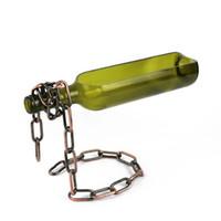 매직 체인과 플래터 봉사 와인 병 트레이 접시 와인 파티 장식 집들이 선물 봉사 크리에이티브 컷 와인 병 스탠드