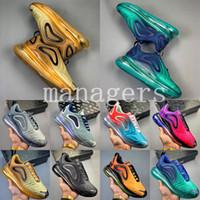 Top qualité air 720 chaussures de designer mens aurores boréales mer forêt désert baskets femmes rose mer triple formateurs d'or pourpre US5.5-11