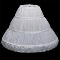 Blanco barata de las muchachas Faldas Enaguas enagua de la crinolina de 3 niños del partido de los floristas Por aro y la boda de los vestidos de bola de los niños