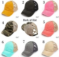 New Hot Women back of hat water wash ripply ponytail Cap Hat...