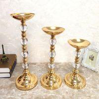 Роскошные металлические искусственные цветы стенд набор для украшения свадьбы один набор трех частей свадебного стола Centerpieces