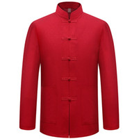 New Male Cotton Shirt Traditional Chinese Men Coat Clothing ...
