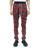 Mens конструктора Jogger Шотландия Брюки Весна мода осень осень брюки Пледы скейтборд штаны