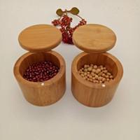 Деревянный приправа горшок бамбуковая Spice Shiaker сахар соль перца травы хранения бутылка для хранения штучкой для кухни EAG595