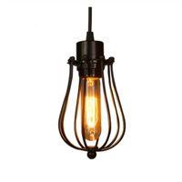 Vintage bur ljuskrona edison glödlampa loft restaurang sovrum hänge LED belysningsindustri vintage järn lampor för hem