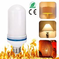 E27 E26 2835SMD 7 와트 LED 불꽃 효과 화재 전구 깜박임 에뮬레이션 장식 불꽃 램프 크리스마스 할로윈 조명 2313