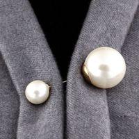 Spilla Pins Vintage doppia testa d'imitazione della perla di grande grande maglione Spille per le donne della festa nuziale della signora gioielli e accessori