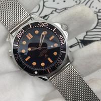 2020 Diver 300m 007 Edición Master Negro Mar Planeta 600M CO Axial Movimiento Mecánico Axial Relojes Strap Strap Sports Wristwatches