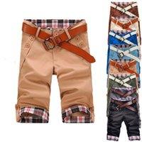 Trend Summer Outdoor Loose Zipper Shorts Casual Pants Men Desigenr Shorts Casual Plaid Flanging Man Shorts Fahison