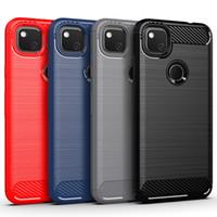 Carbon-Faser-Brushed weicher TPU Fall für Google Pixel 3 3A XL Pixel 4 XL 4A OnePlus 7 7T 8 Pro 6 6T