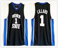 NCAA College Weber State # 1 Damian Lillard Basketball-Trikots Nähte Stickerei Jersey für Manngröße S-2XL