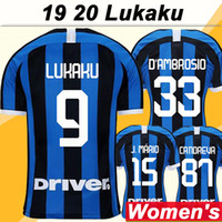 19 20 LUKAKU PERISIC Women Soccer Jerseys BROZOVIC PERISIC H...