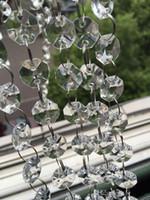 구슬 팔각형 198 피트 크리스탈 화환 가닥의 14mm 투명 아크릴 크리스탈 웨딩 파티 Manzanita 트리 장식 매달려 체인