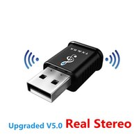 Bluetooth 5.0 Receptor transmissor de áudio Mini 3,5 milímetros AUX Stereo Adaptador USB Música Car PC Transmissor sem fios Headphone