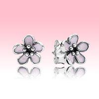 Милые женщины маленькая маргаритка серьги серьги подарок летние ювелирные изделия для стерлингового серебра Pandora 925 серебряные серебряные с оригинальной коробкой логотипа