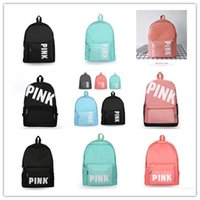 Pink Letter Backpack Oxford Shoulder Bag Girls boys Students...