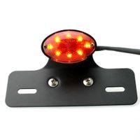 señal de vuelta del coche de la motocicleta ATV Quad 14 Licencia de freno LED integrada Placa luz de la cola