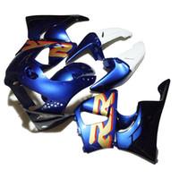 100%フェアリングキットホンダCBR900 RRフェアリング98 99 CBR900RRホワイトブルーオートバイセットCBR919 1998 1999 VD88