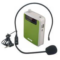 Mini Megaphone cós alto-falante com voz Microfone Amplificador de impulsionador Megafone Speaker para o ensino Speech Tour Guide Promoção Venda