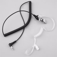 NEW 3. 5mm Silicon Acoustic Air Tube Curly Cable Headset Anti...