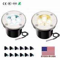 EU Stock + 5W 3000K LED 6000K Paisagem iluminação de baixa tensão de iluminação em um chão bem Luzes 12V Caminho Luzes